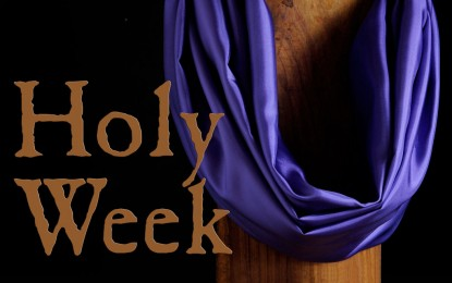 CHRONOLOGY OF PASSION WEEK