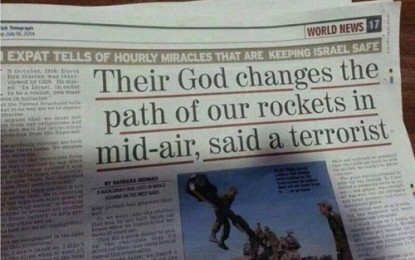 GOD DEFENDS ISRAEL!