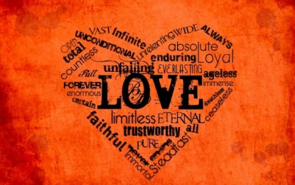 ONE-WORD DESCRIPTIONS OF GOD'S LOVE