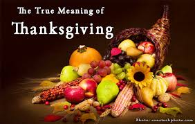 THE BEGINNING OF THANKSGIVING DAY IN AMERICA
